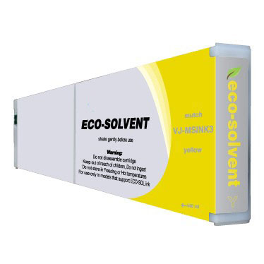 Premium Quality Yellow Eco-Ultra Ink compatible with Mutoh VJ-MSINK3 YE-440