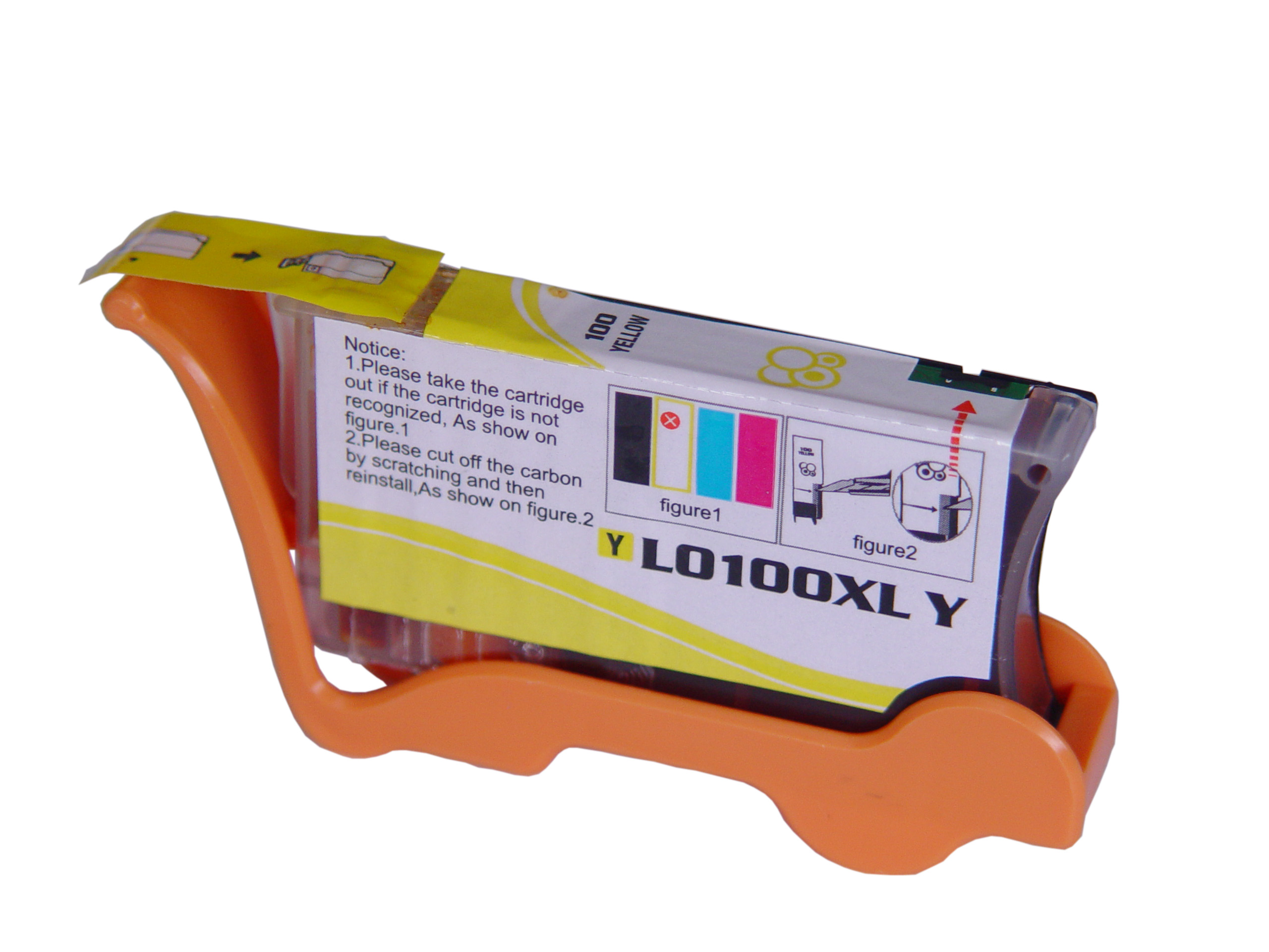 Premium Quality Yellow Ink Cartridge compatible with Lexmark 14N1071 (Lexmark #100Y XL)