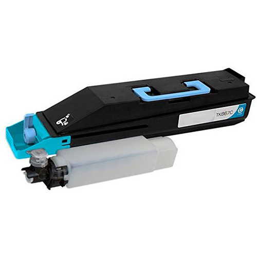Premium Quality Cyan Toner Cartridge compatible with Kyocera Mita 1T02JZCUS0 (TK-867C)