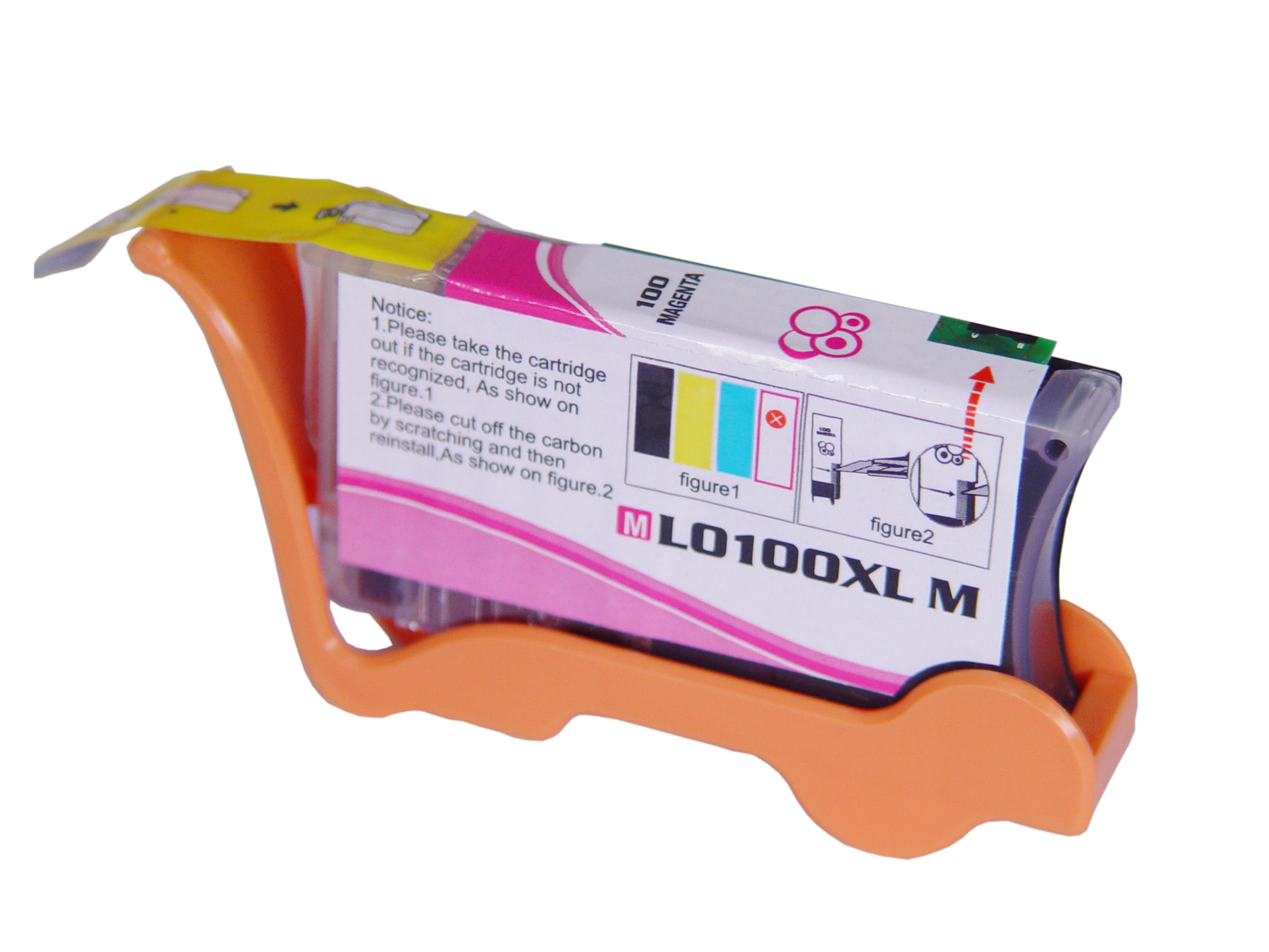 Premium Quality Magenta Ink Cartridge compatible with Lexmark 14N1070 (Lexmark #100M XL)
