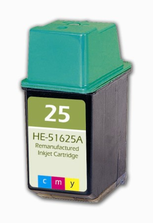 Premium Quality Tri-Color Inkjet Cartridge compatible with HP 51625A (HP 25)